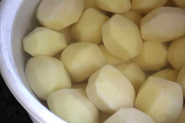 Preparing Potatoes for Canning