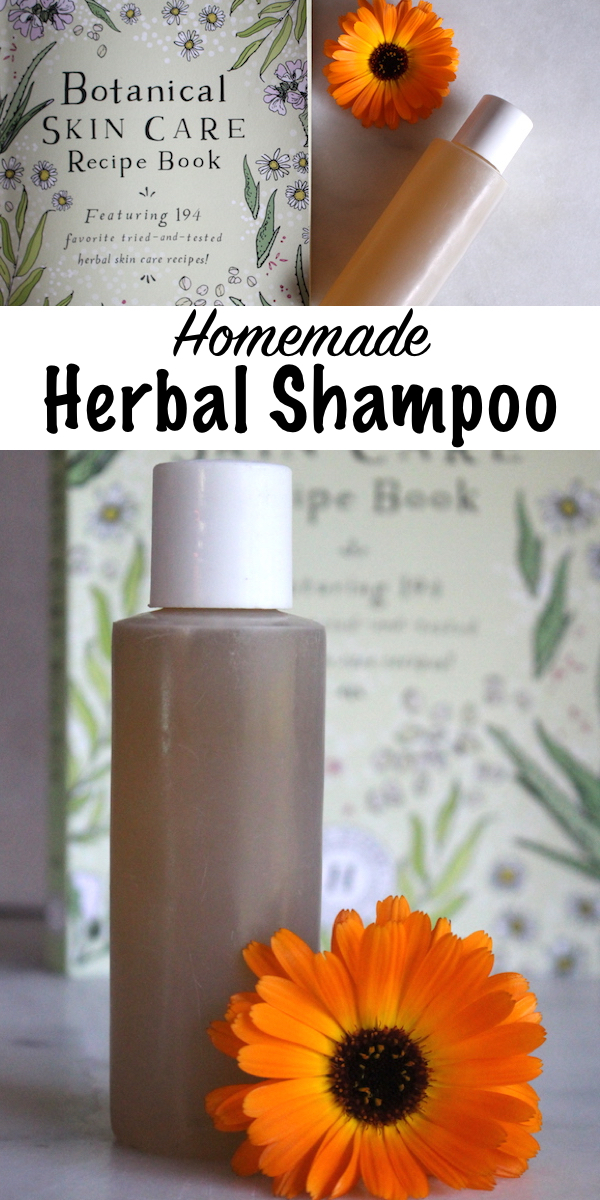 Homemade Herbal Shampoo ~ This simple herbal hair care recipe comes from the Herbal Academy's Botanical Skin Care course. Learn how to make your own herbal hair and skin care products! #herbalism #herbs #haircare #naturalbeauty