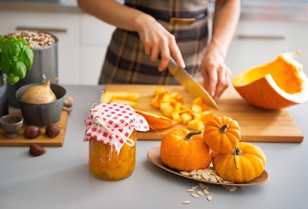 Canning Pumpkin at home ~ Preserving Pumpkin by canning can be tricky, and it can only be canned as chunks (not puree).