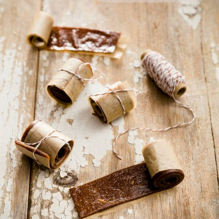 Banana fruit leather with Nutella made with a simple fruit leather dehydrator recipe