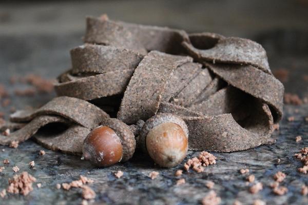 Homemade acorn pasta