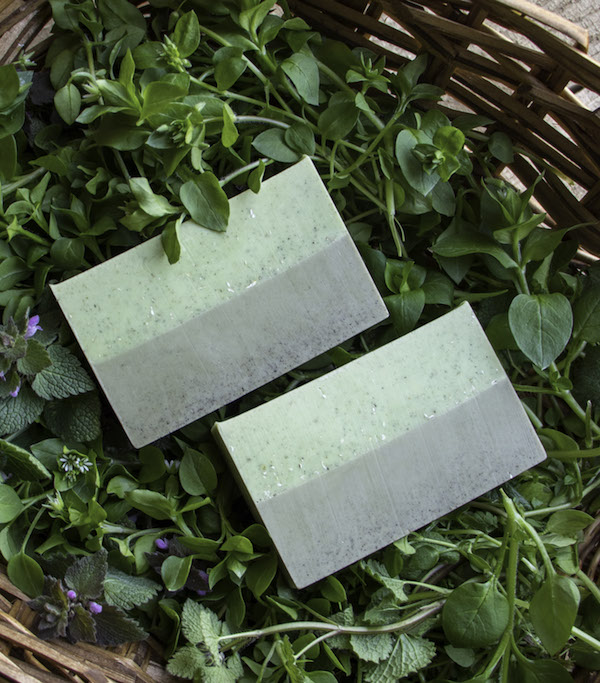 Gardeners Soap with Spring Weeds from Easy Melt and Pour Soaps