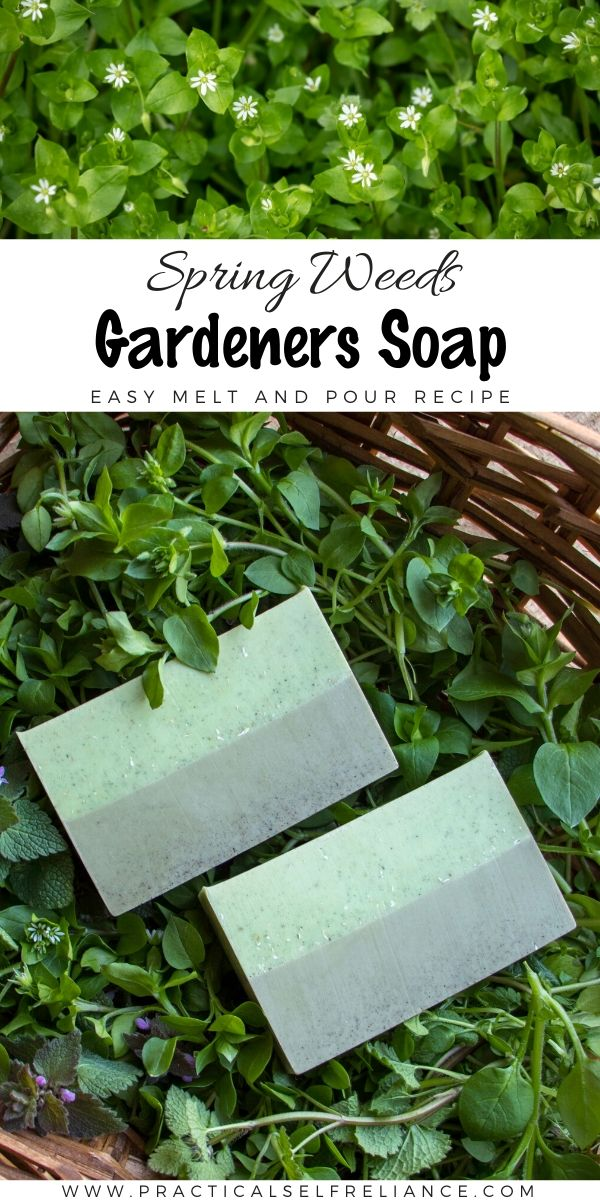 Spring Weeds Gardener's Soap ~ Easy Melt and Pour Recipe for home soap making #soapmaking #garden #gardening #diy #crafts