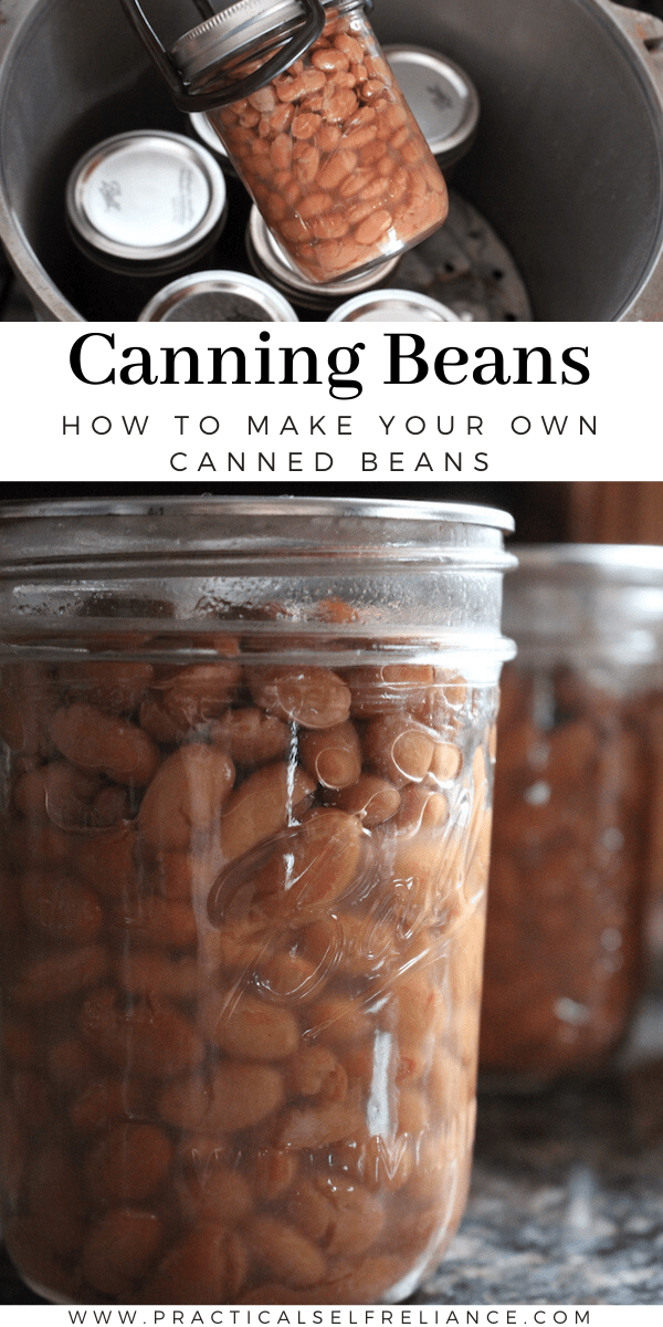 Canning Beans ~ Learn how to can dry beans at home for quick weeknight meals.