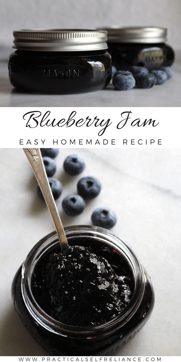 Homemade Blueberry Jam ~ Easy recipe without pectin.