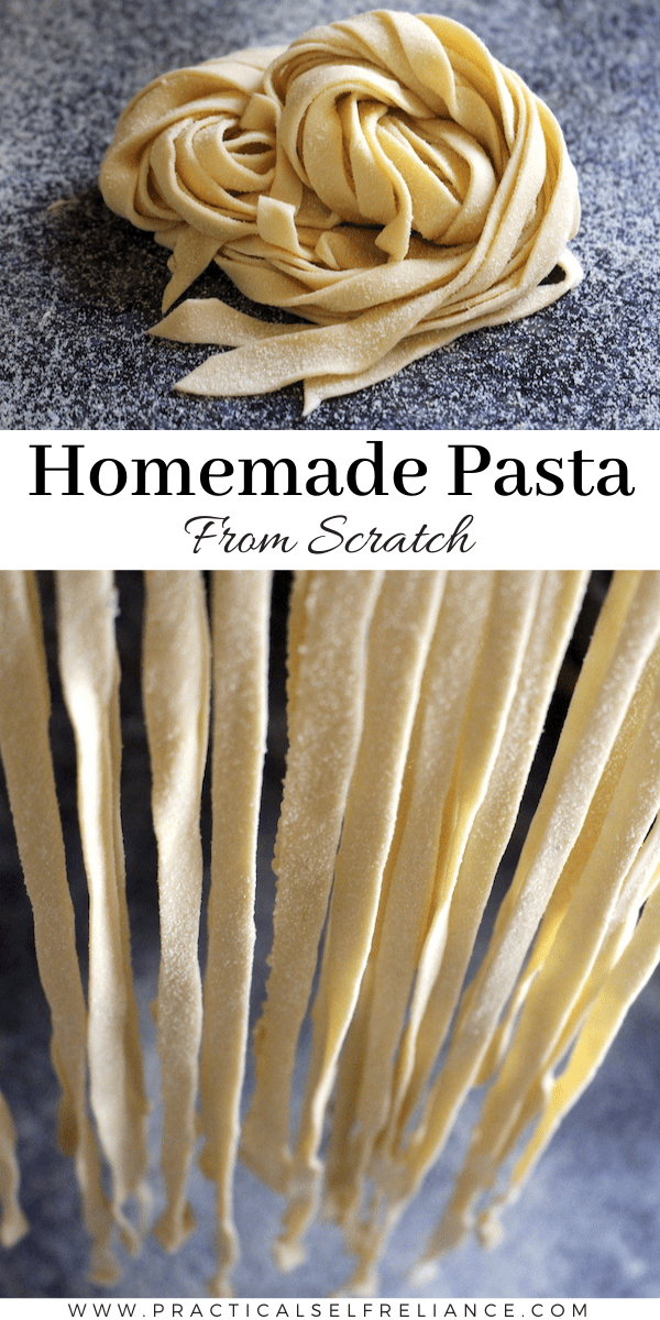 Homemade Pasta from Scratch ~ Learn how to make your own pasta dough with just a few ingredients!