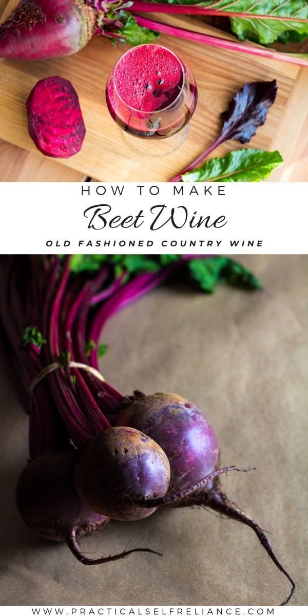 Homemade Beet Wine ~ Learn how to make an old fashioned country wine from beetroot.