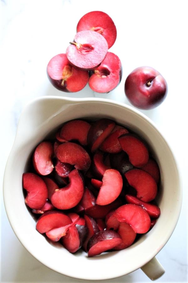 Plums for homemade plum jam