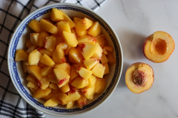 Chopped Peaches for Jam