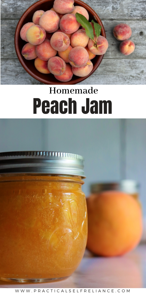 Homemade peach jam is an easy way to preserve peaches with just a few ingredients. Make this old fashioned peach jam recipe as a canning recipe, or a freezer jam.