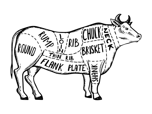 Side of Beef Diagram