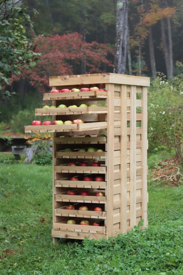 Homemade 10 Drawer Apple Storage Rack