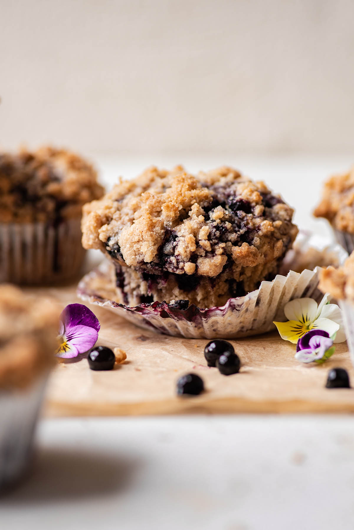 Sourdough Blueberry Muffins from baked the blog