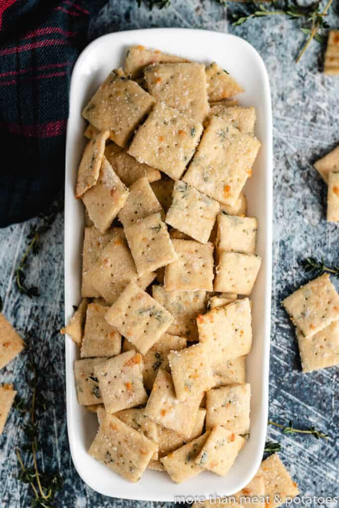 Sourdough Parmesan Cheese Crackers from More than Meat and Potatoes
