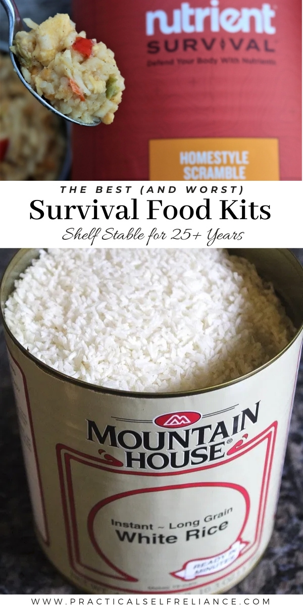 Best (and Worst) Survival Food Kits #survival #survivalist #prepper #preparedness #shtf #survivallife