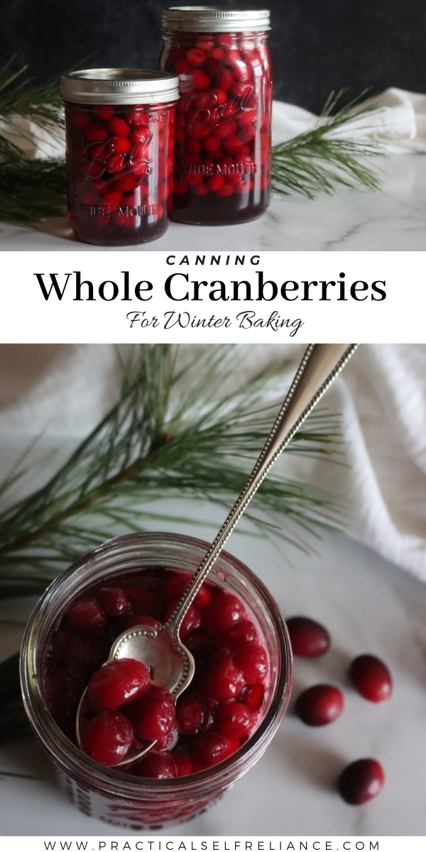 How to Can Cranberries ~ Canning cranberries at home is simple, and can be done with or without sugar.