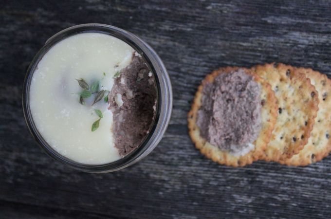 Liver Pate and crackers