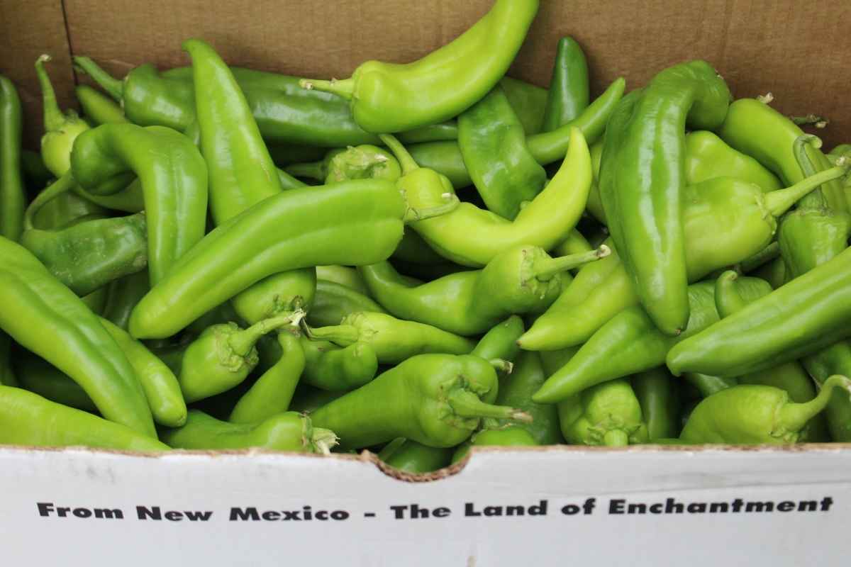 25 lb box of hatch chilies from New Mexico