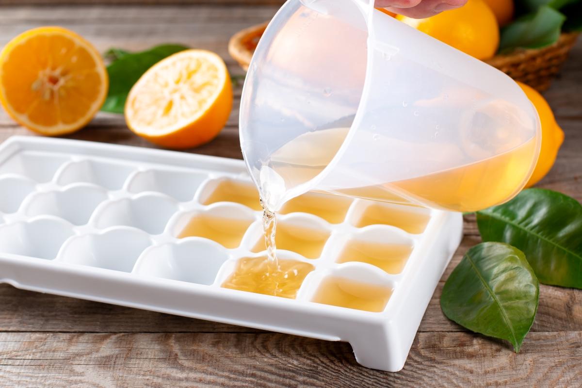 Freezing Fruit in Ice Cube Tray