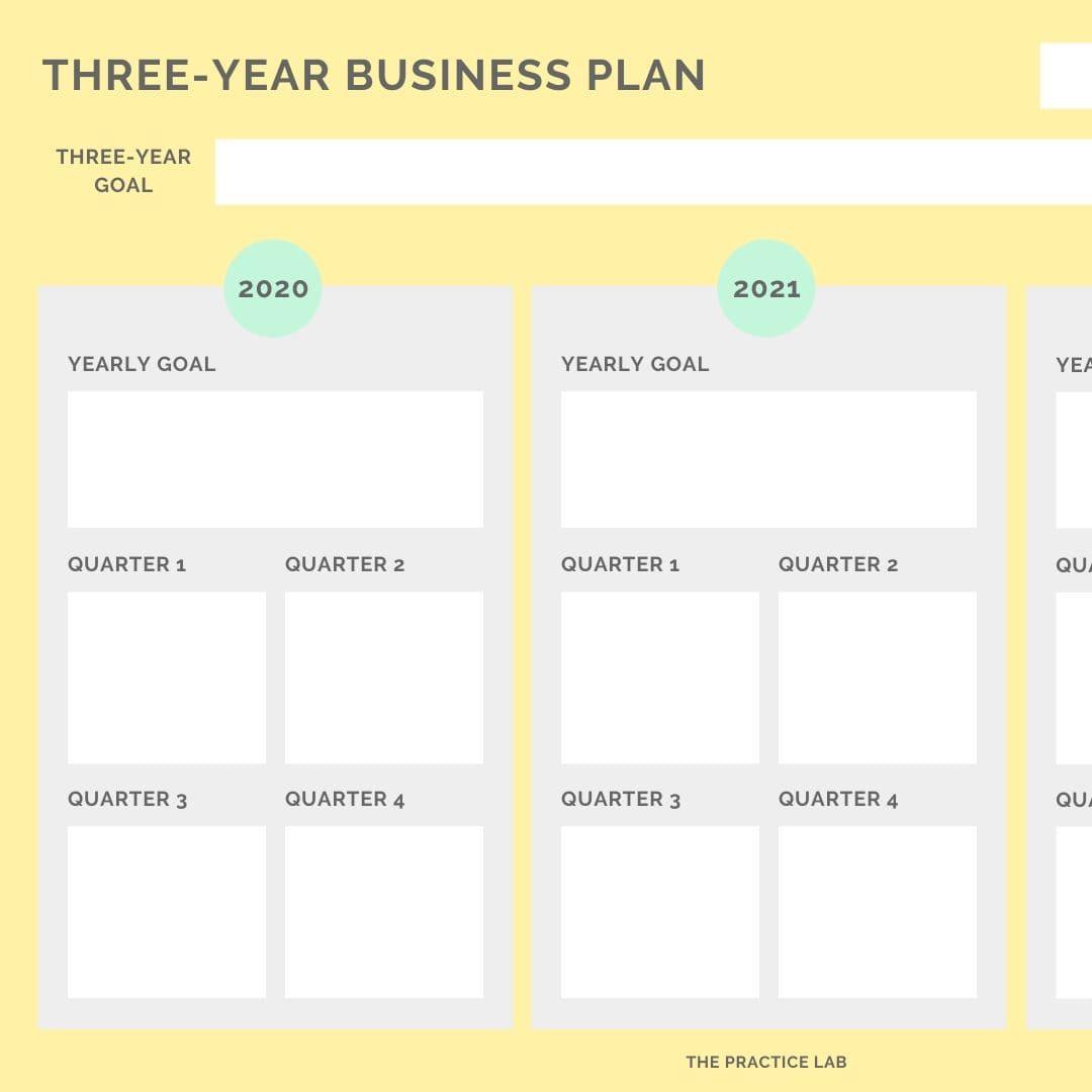 Three Year Business Plan Worksheet