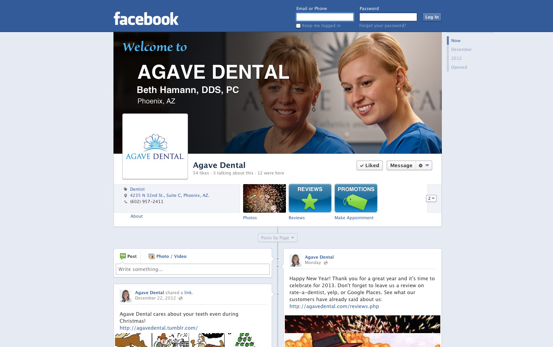Dental Facebook profile example