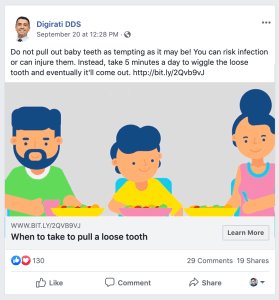 Dental Facebook Post Example PracticeMojo