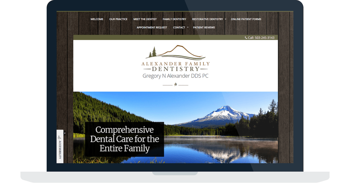 Dental Website Example from PracticeMojo