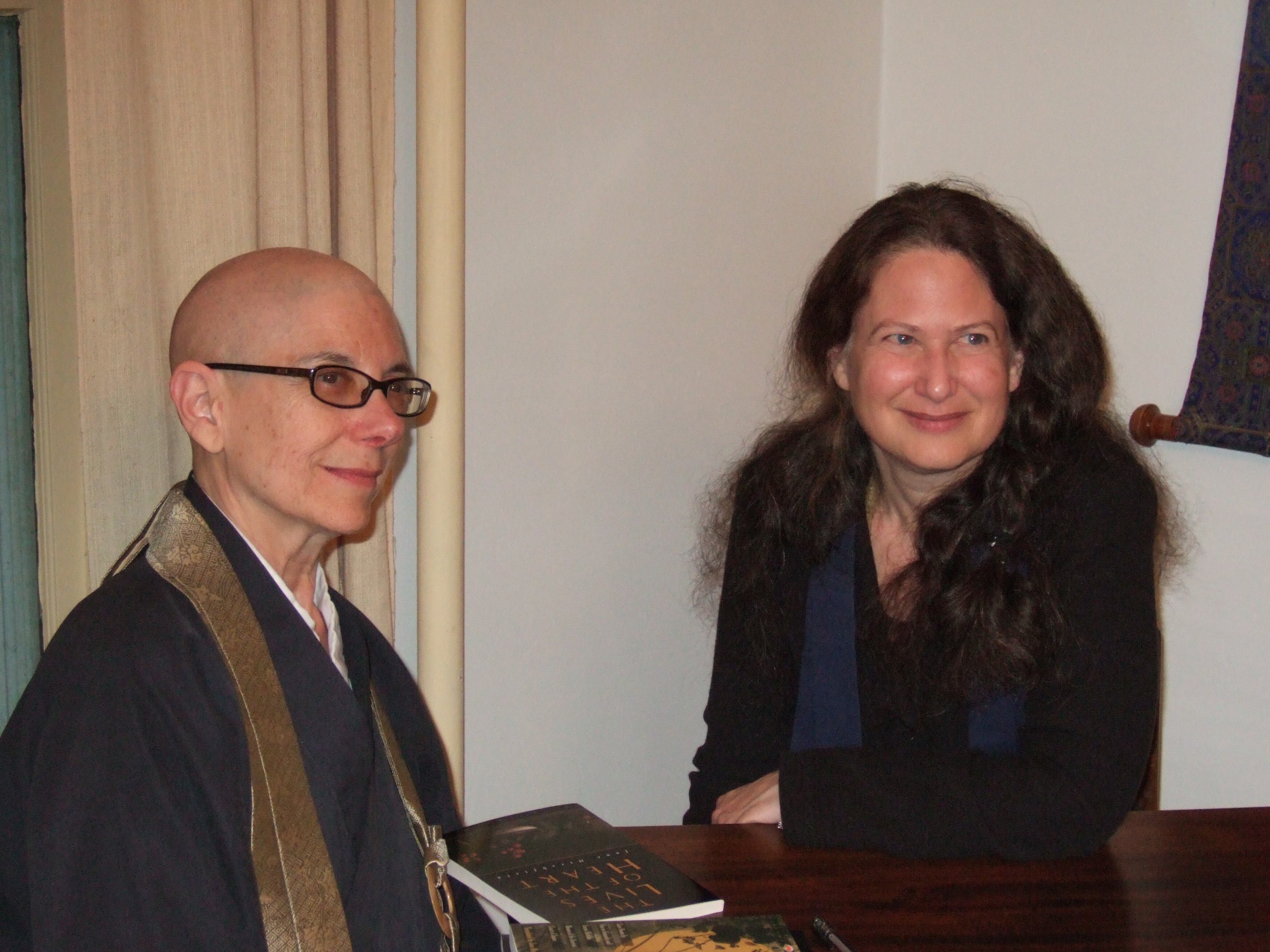 Roko Shinge Roshi and Jane Hirshfield