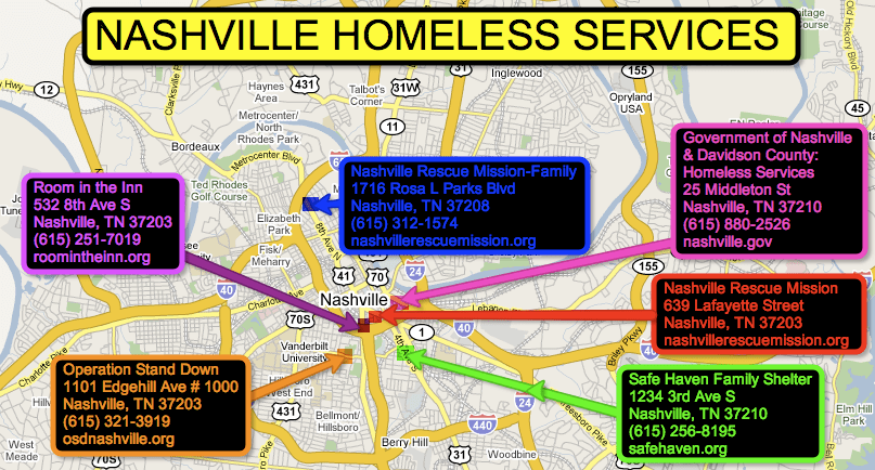 Nashville Homeless Shelters
