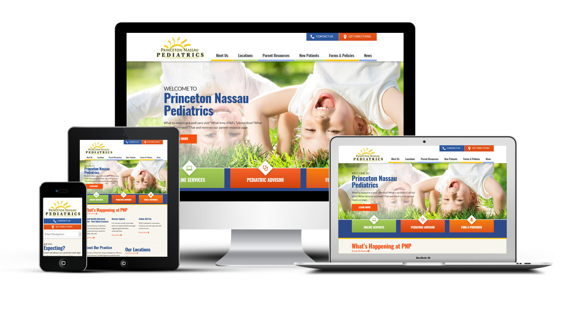 Mobile friendly pediatric website design
