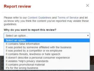 yelp review reporting