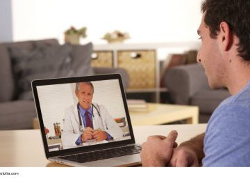 patient watching educational videos