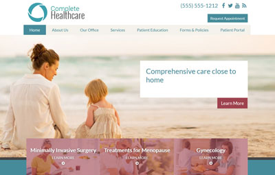 Hopper healthcare website design theme