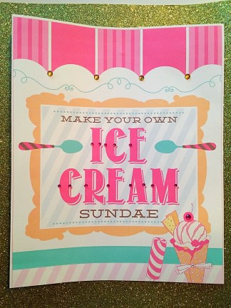 Make Your Own Sundae Signage