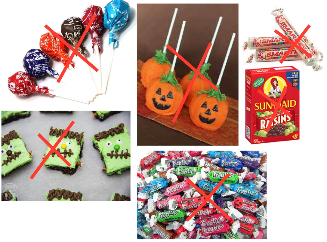 What NOT to give, Trick-or-Treaters
