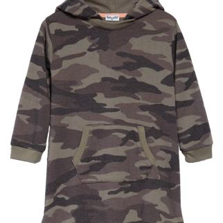 Splendid Camo Print Hooded Dress