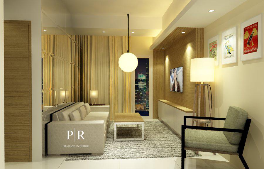 Desain Interior Apartemen Marbella _ Living Room - Kemang - Jakarta