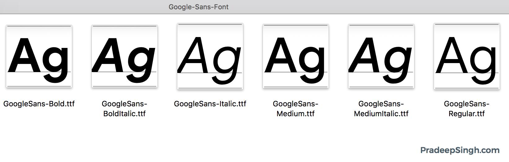 Google Sans Font Download Desktop