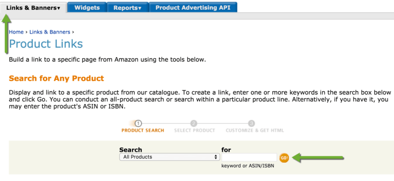 Links and Banners for Amazon Associates