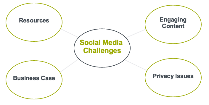 Thematic Map of sub-themes related to social media challenges