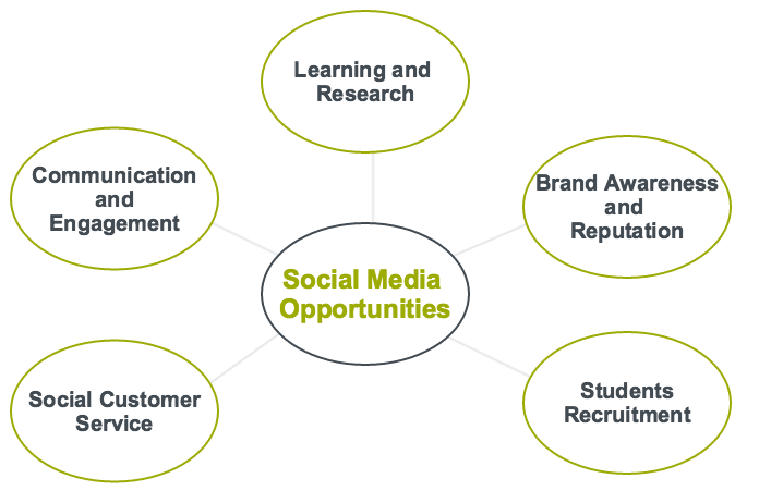 Thematic Map of sub-themes related to social media opportunities