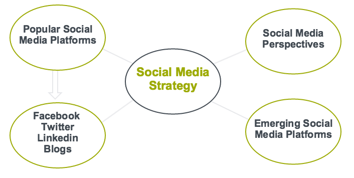 Thematic map of sub-themes related to Social Media Strategy