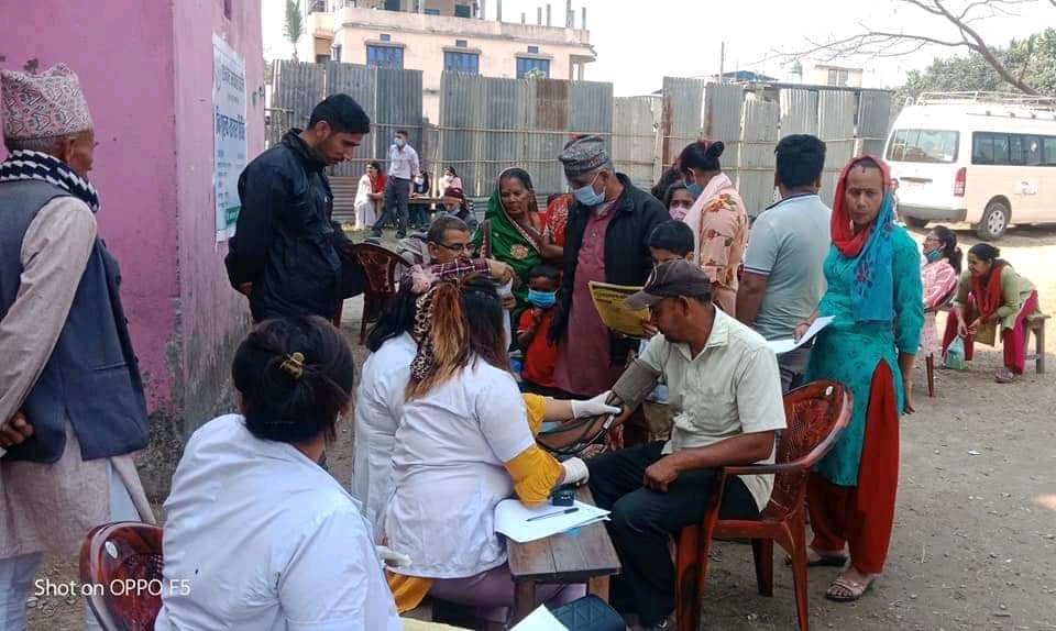 रतुवामाईमा साहस नेपालको आयोजनामा स्वास्थ्य शिविर सम्पन्न