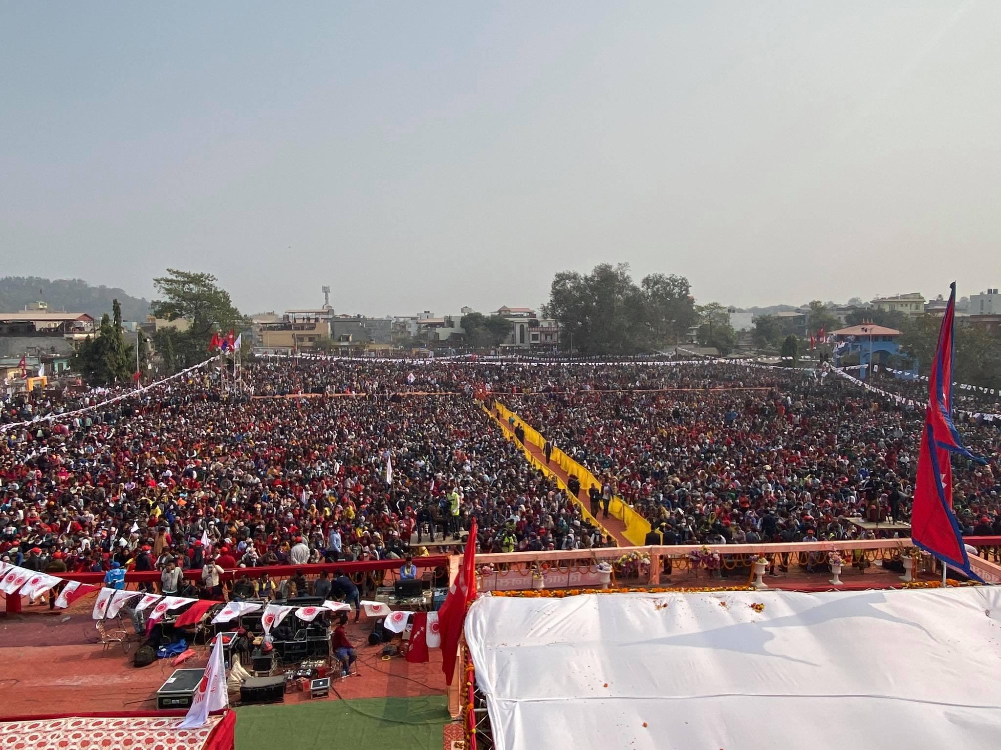 प्रधानमन्त्री ओलीको साथमा उभियो लुम्बिनी प्रदेश (फोटो फिचर)
