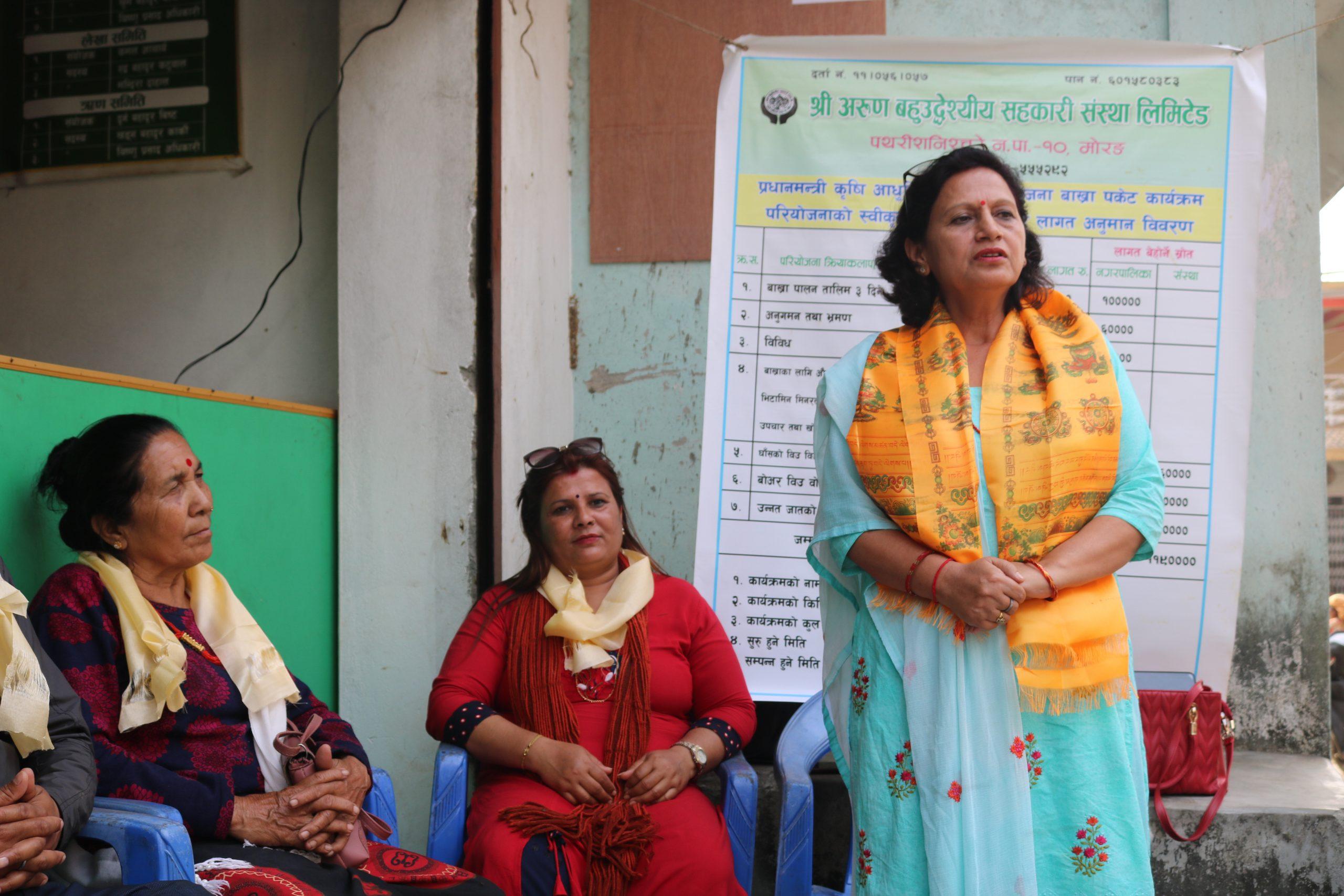 बाख्रा पालन कार्यक्रमको सार्वजनिक सुनुवाई