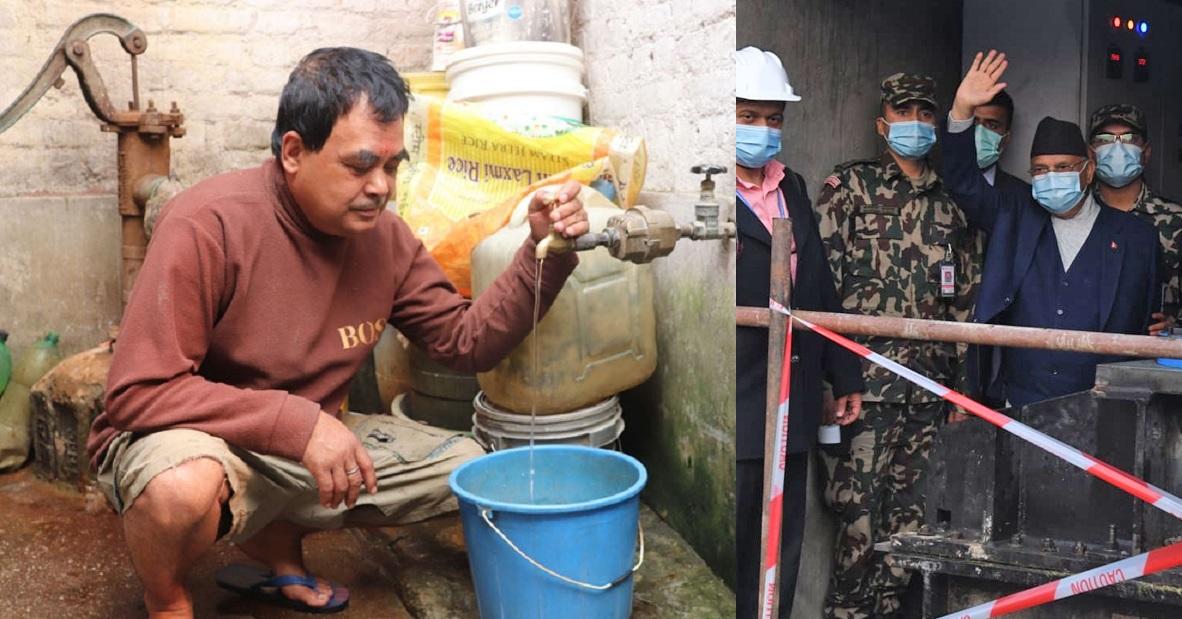 धारामा आइपुग्यो मेलम्चीको पानी
