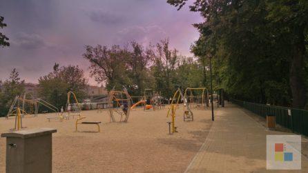 Der Spielplatz auf der Kinderinsel.