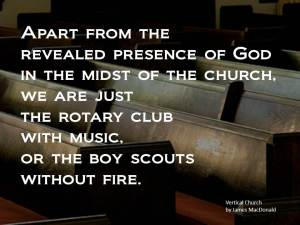 vertical church - rotary club with music