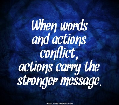 When Words and Actions Conflict, Actions Carry the Stronger Message