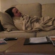 Kathleen was all tuckered out.